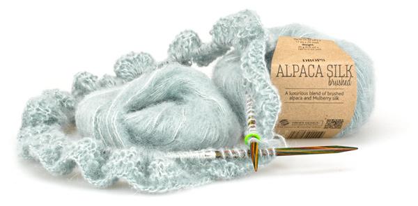 Bild verstrickte Alpaca Silk, Fb. 14, graugrün hell